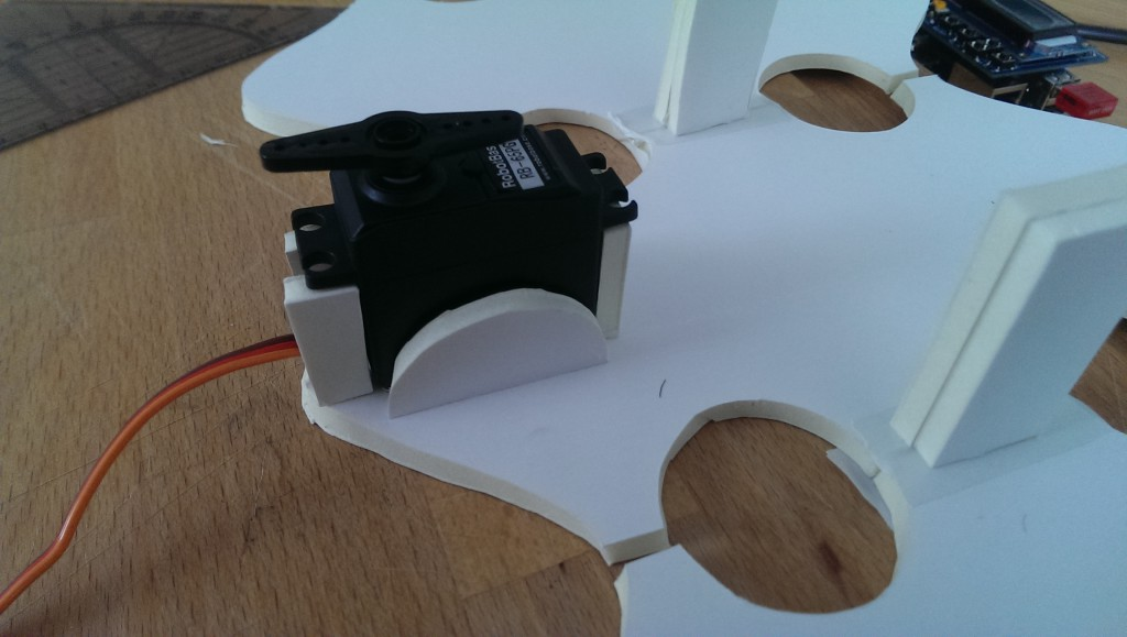 Modell mit Servomotor