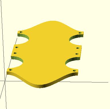 Grundplatte Drittel mit Montagelöchern
