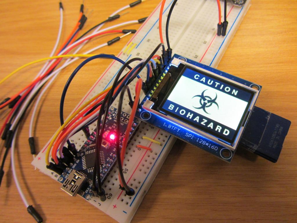 Ein Grafikdisplay am Arduino.