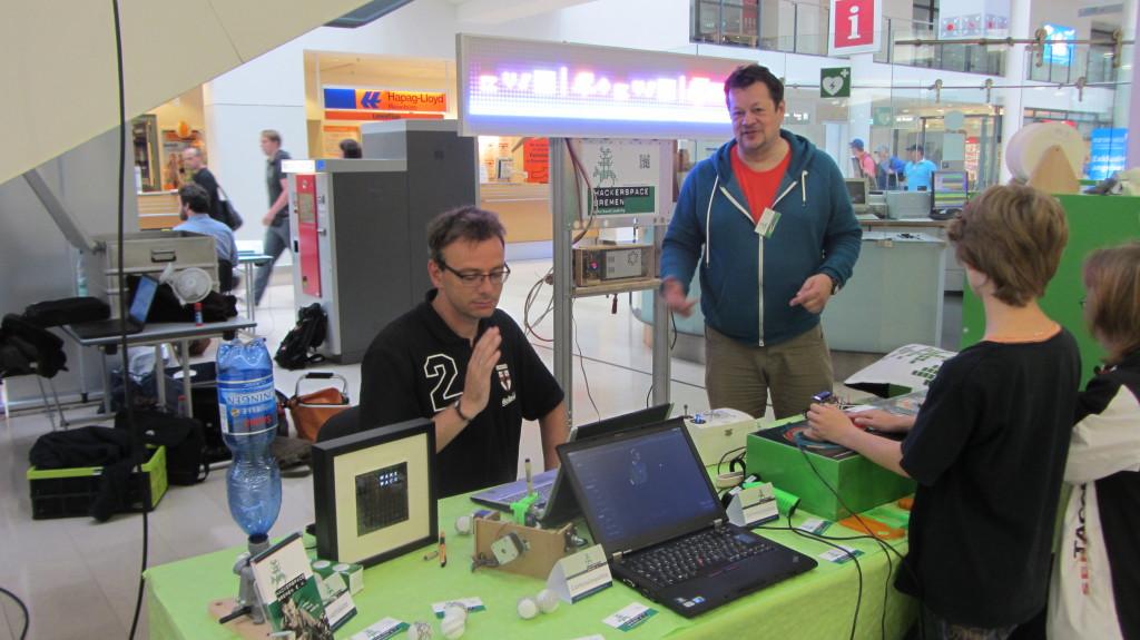 Unser Stand beim Tag der Technik am City Airport Bremen