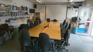 Raum für Vorträge, Workshops und Gruppentreffen